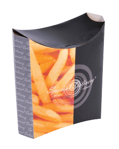 Emballage alimentaire, boite carton frites personnalisable
