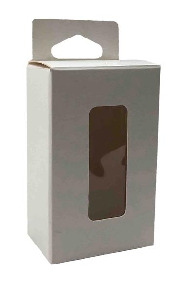 boite avec etiquette transparente